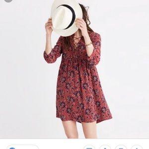 MADEWELL 100% Silk Floral Assam Dress